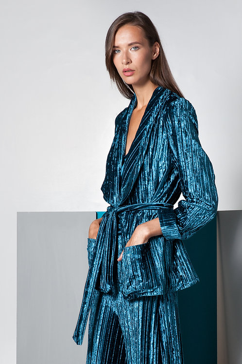 Aether velvet pleated Blazer