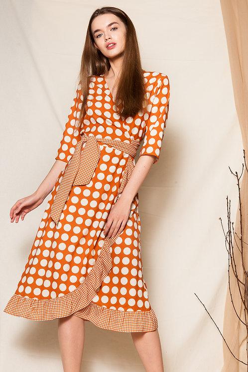 Nencia wrap dress