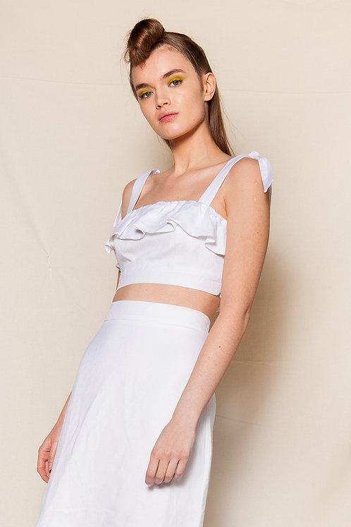 Serena white bustier