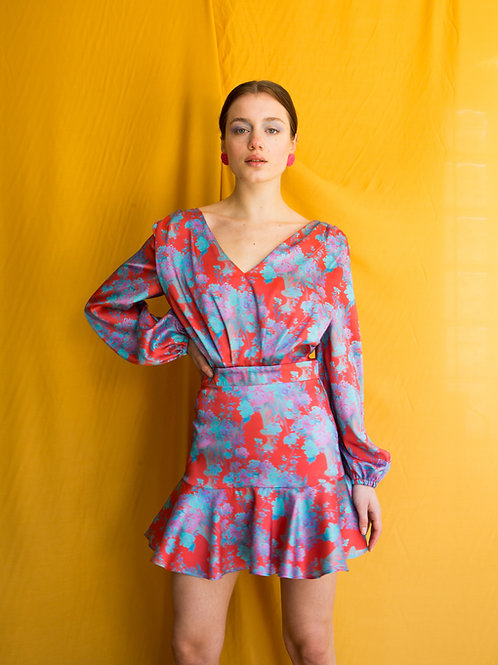 Rebecca long sleeve mini dress