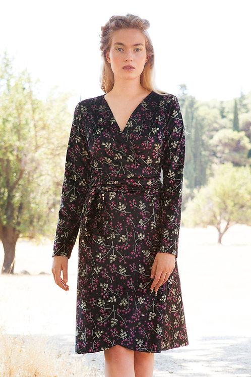 Cranea velvet wrap dress
