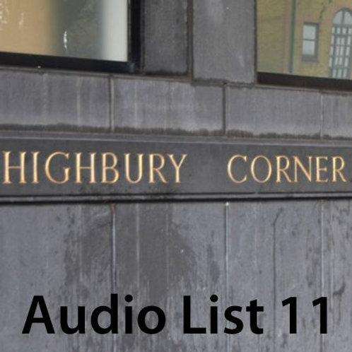 Audio Book 3 List 11