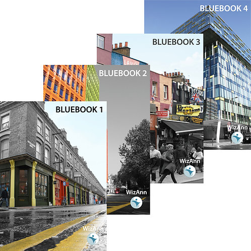Paper Bluebooks 1,2,3 and 4
