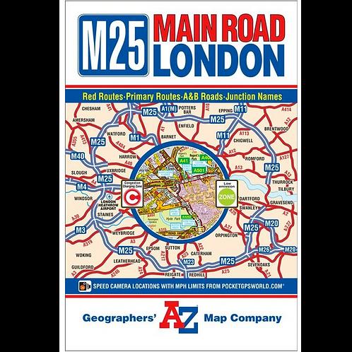 Map M25 London Map Lamfold
