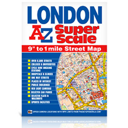 Map A-Z Super Scale Lamfold