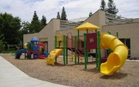 Angel's Nest promotes physical activity with an open outdoor play area.