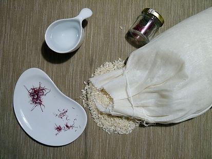 ingredienti per il risotto alla milanese