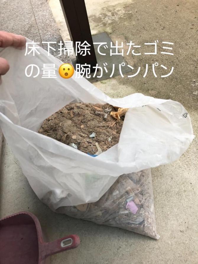 床下の清掃