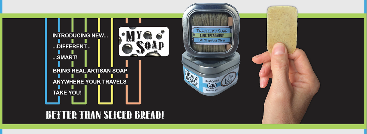 My Soap is the perfect travel soap packed with 30 single-use slices.  Check out all of our refill scents available online!