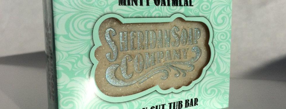 Minty Oatmeal Tub Bar
