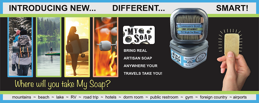 Original My Soap, perfectly sliced for maximum adventure with minimal waste!