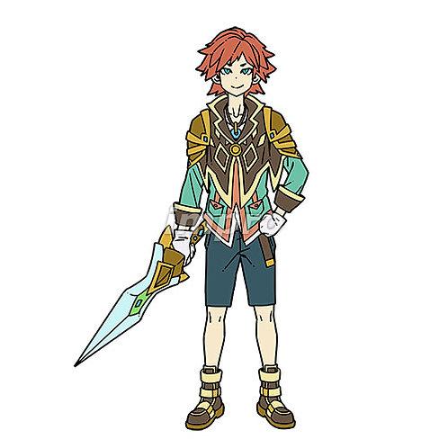 冒険を楽しむ剣士の少年
