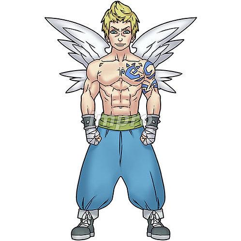 格闘家の天使(影あり)