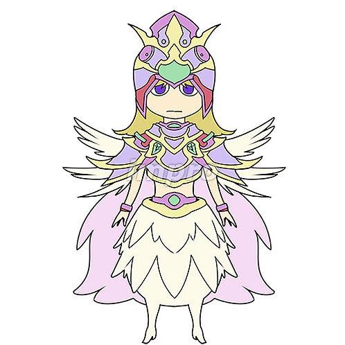 ふわふわした天使の女の子