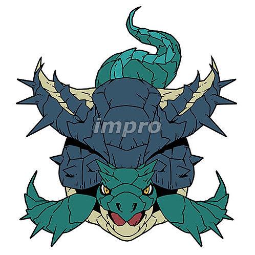 硬い鱗の古代亀