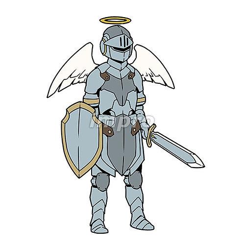 銀の鎧の天使