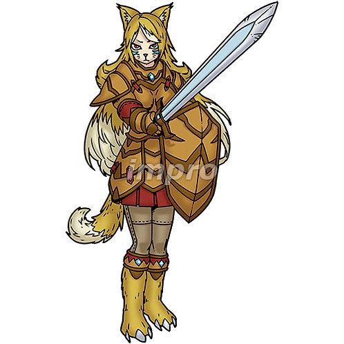 ケモノの騎士(影あり)