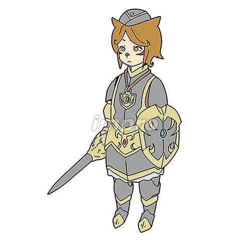 獣とハーフの騎士の女の子