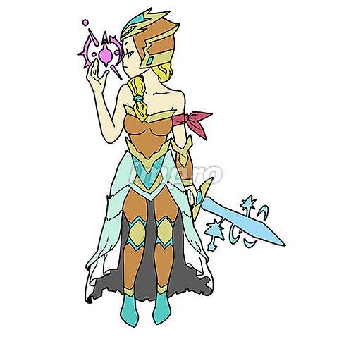 魔法剣士の女性