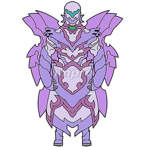 翼のあるロボット兵士