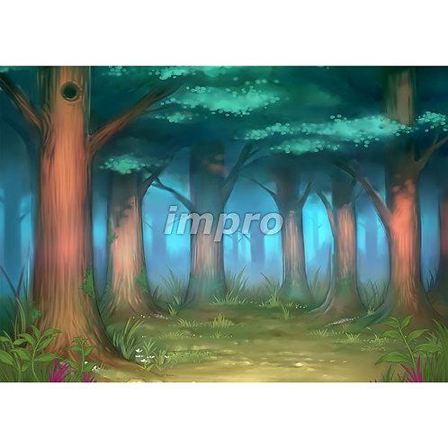 木々に囲まれた深い森(ワイド)