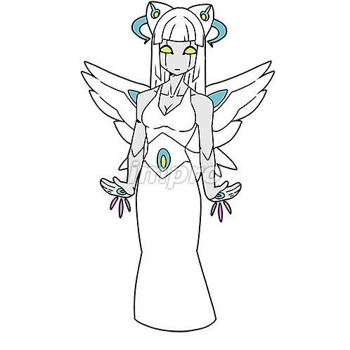 女性モデルのロボット天使