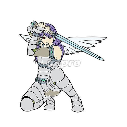 剣を構える天使