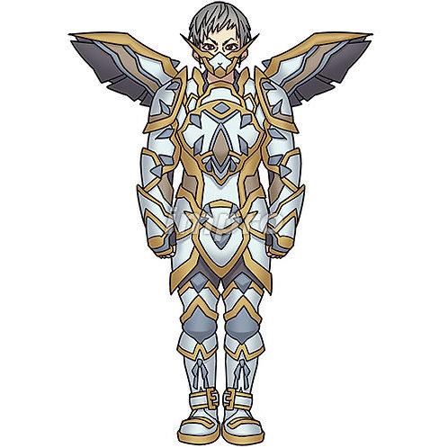 全身フル装備の騎士(影あり)