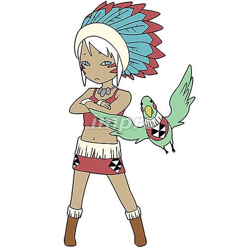 インディアンの女性