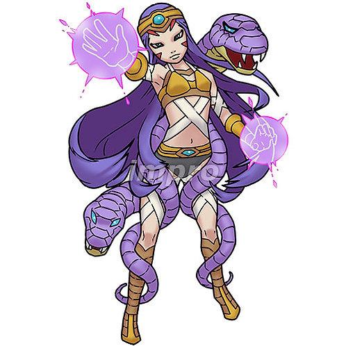 妖艶な蛇使いの魔術師(影あり)