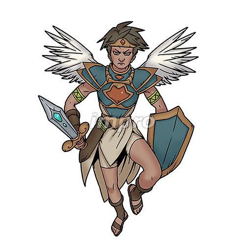 若い勇敢な天使(影あり)