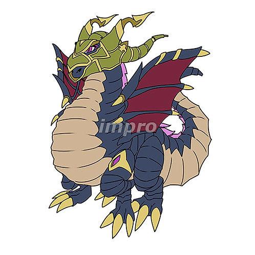 兜をかぶるドラゴン