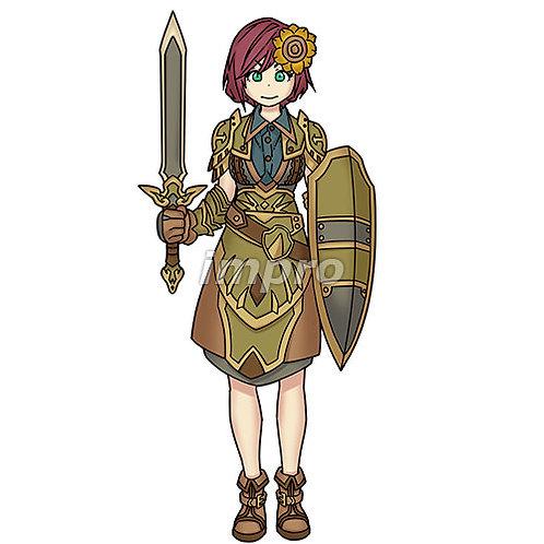 ひまわりの女騎士(影あり)