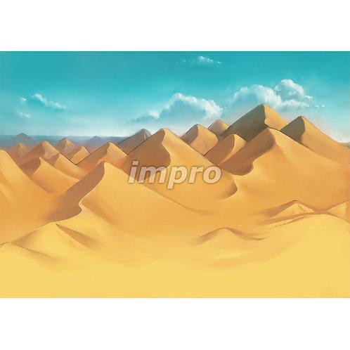 延々と続く砂漠地帯(ワイド)