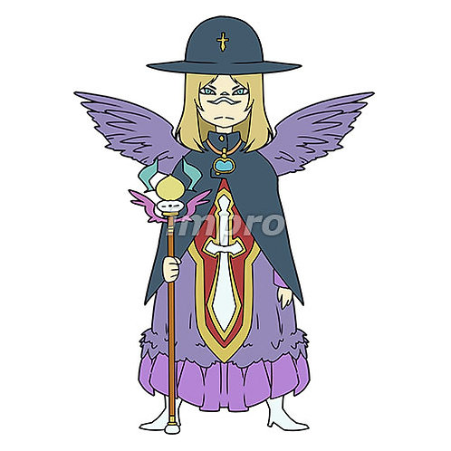 天使祓いの女性