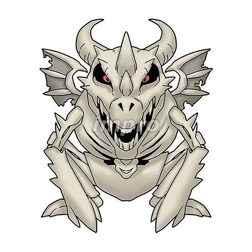 骸骨のドラゴンゾンビ(影あり)