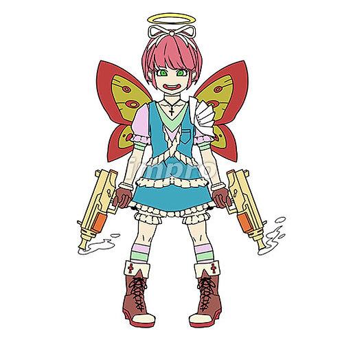 マシンガンを持った天使