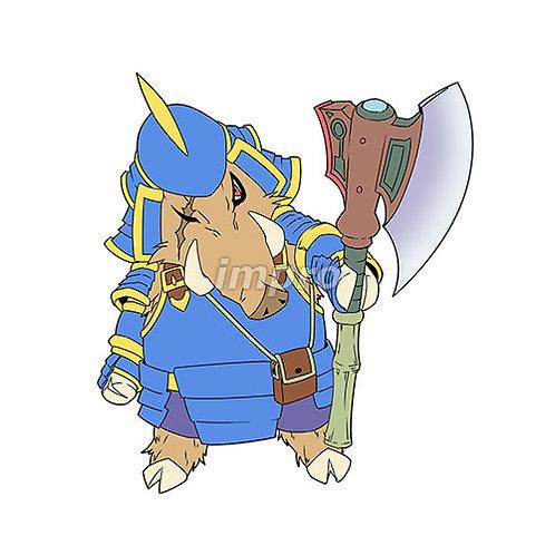 斧を持ったイノシシ侍