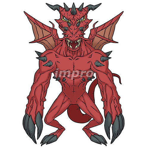 深紅のドラゴン(影あり)
