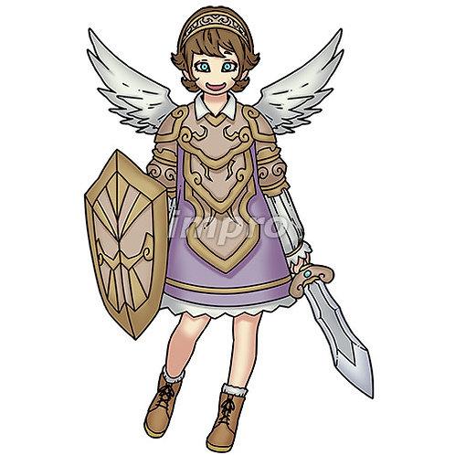 ショートヘアのおちゃめな天使(影あり)