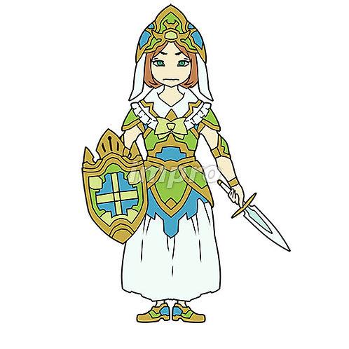 派手な鎧の女騎士