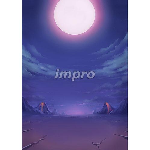 満月の荒野
