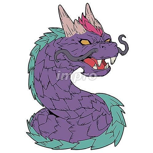 鋭い鱗のワームドラゴン