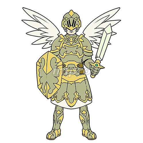 重装備の男性天使