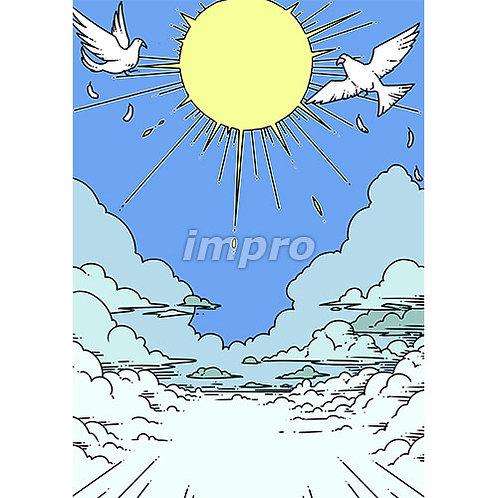 雲の上の平和な世界