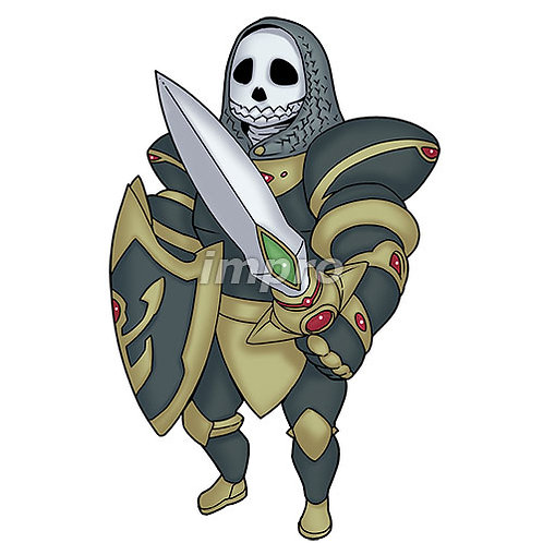 卓越したガイコツ騎士(影あり)