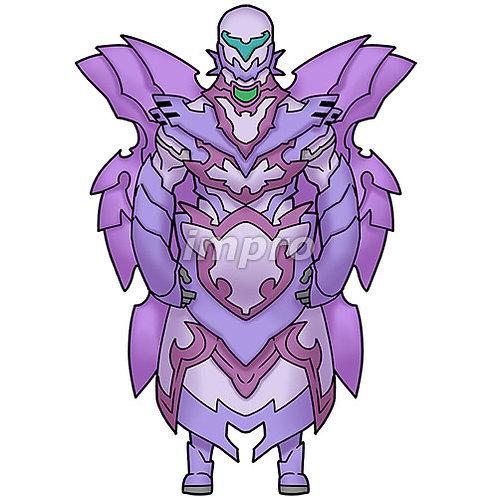翼のあるロボット兵士(影あり)