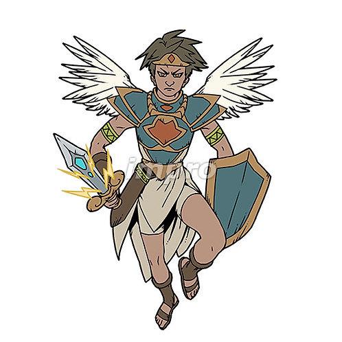 若い勇敢な天使