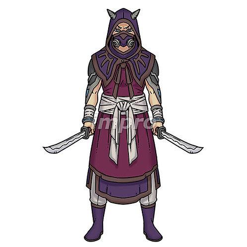 双剣の暗殺者(影あり)