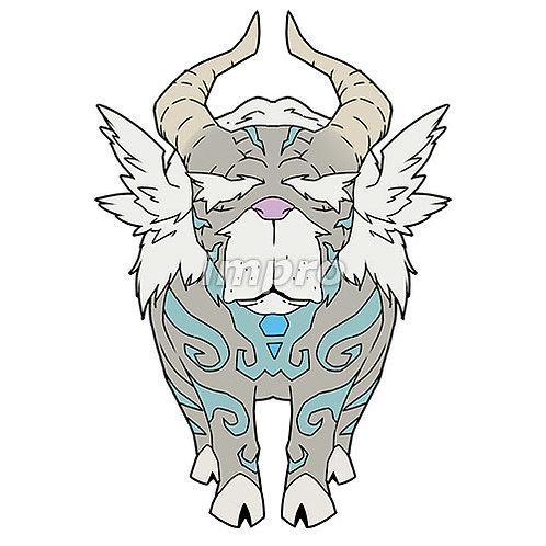 紋章を持つヤギ長老